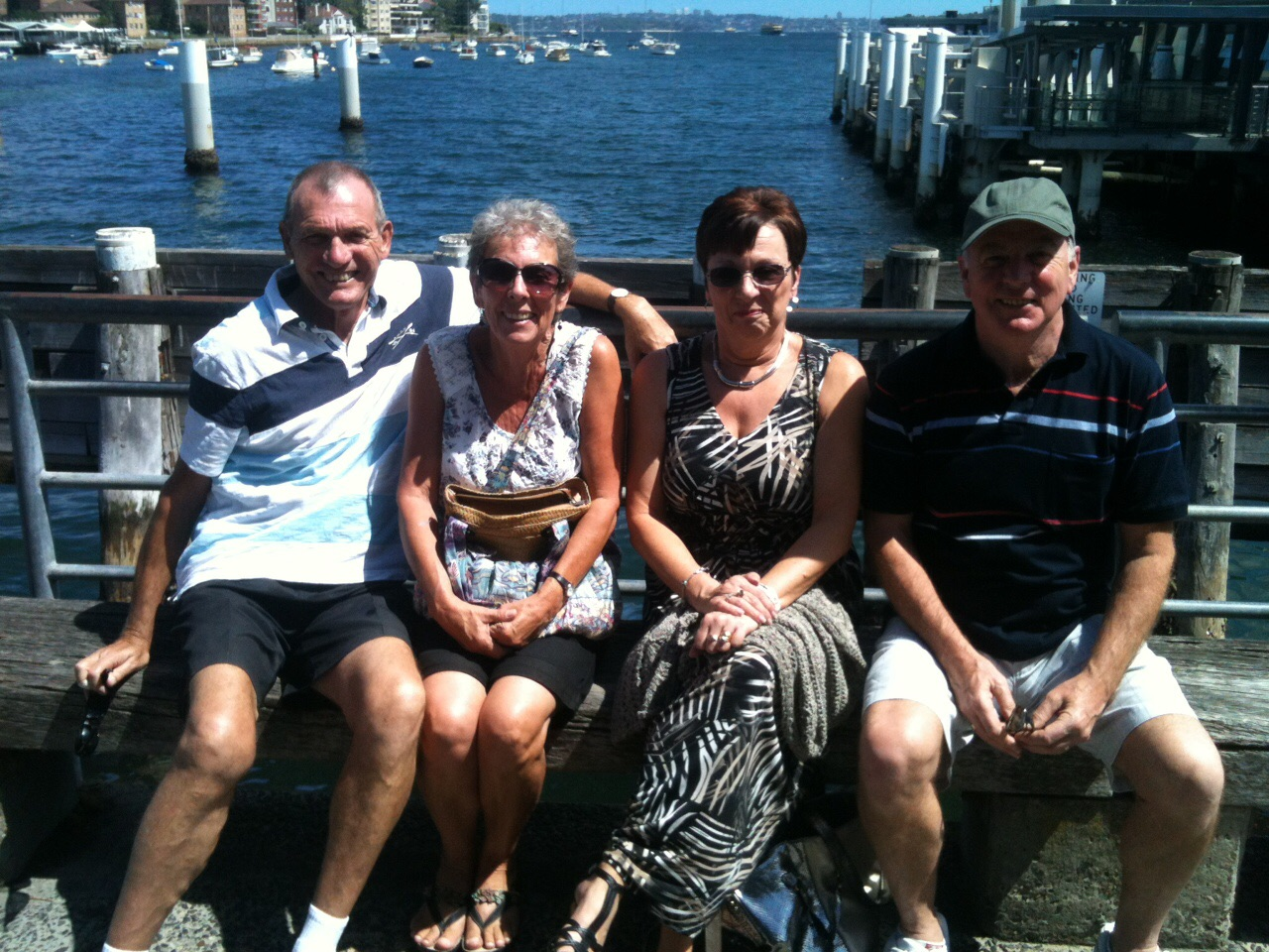 Babs & Sue, from Renhold Love to Dance, with their hubbies enjoying the sun down under