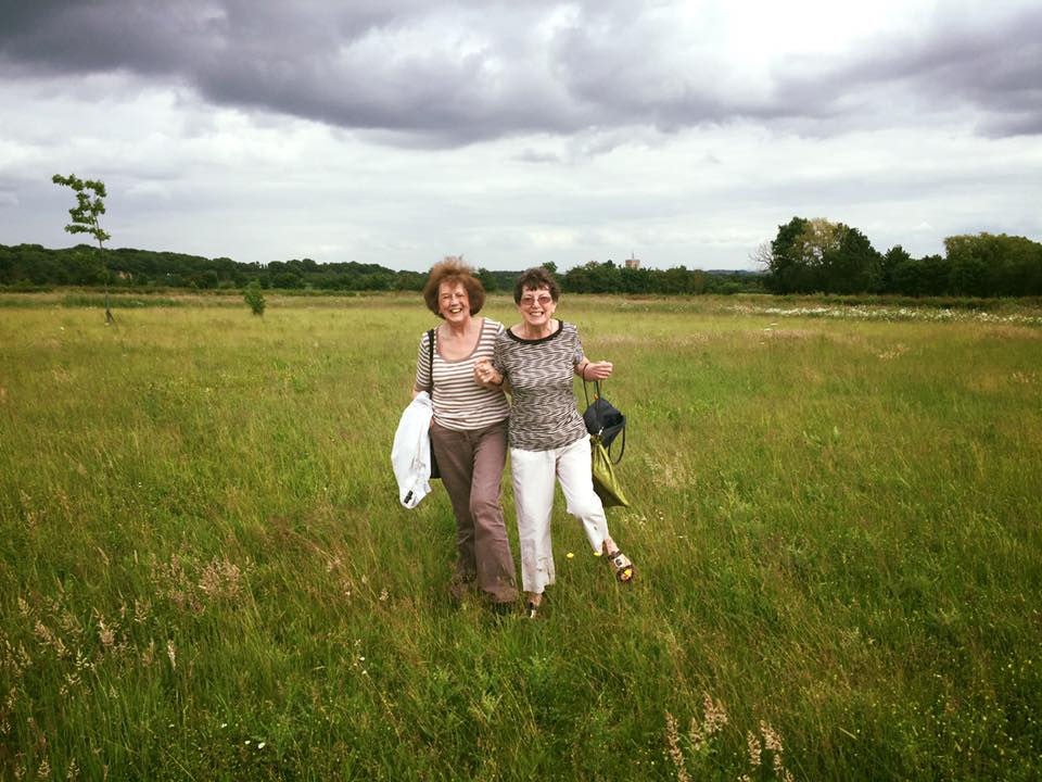 Pauline & Ella didn't have the right shoes on for an impromptu nature walk after dance class!
